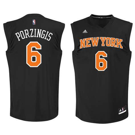 Jersey Basket Nba Gametime New York City Porzingis Putih adidas kristaps porzingis new york knicks black fashion basketball jersey