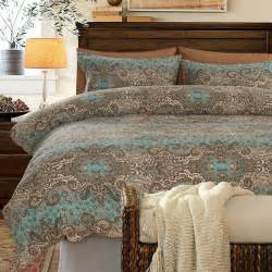 turquoise brown and khaki classic baroque style shabby chic paisley print southwestern style 100