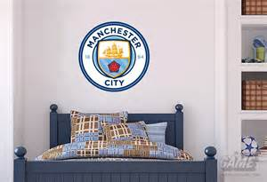 City Wall Stickers Manchester City Official Crest Set Wall Sticker Mcfc