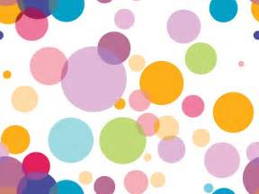 colorful circles on white powerpoint templates abstract