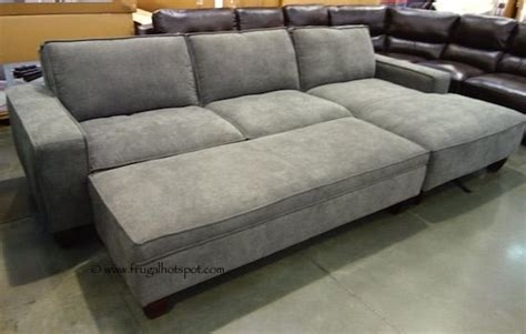 gray sectional sofa costco chaise sofa with storage ottoman costco frugalhotspot