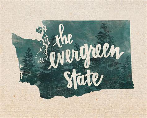 Order Custamer Wa washington evergreen state lettering digital print