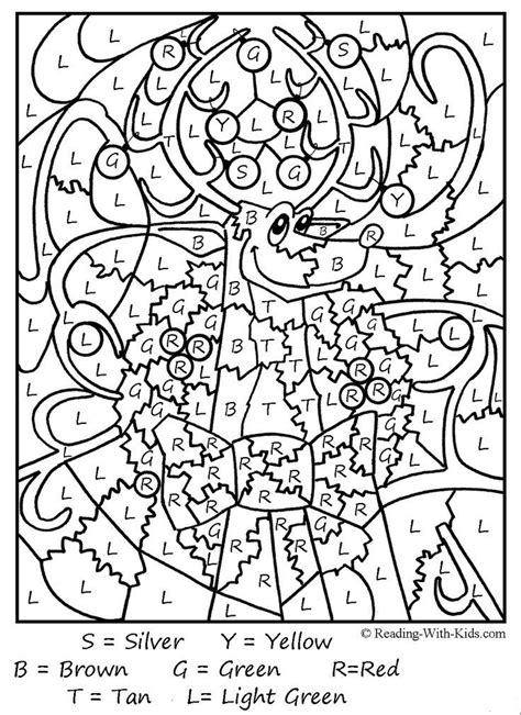hard color by number printables az coloring pages