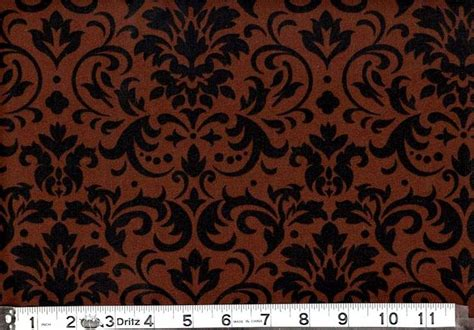 Black Cotton Quilt cotton quilt fabric delightful damask brown and black