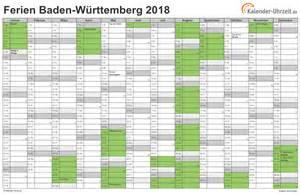 Kalender 2018 Ferien Thüringen Zum Ausdrucken Ferien Baden W 252 Rttemberg 2018 Ferienkalender Zum Ausdrucken