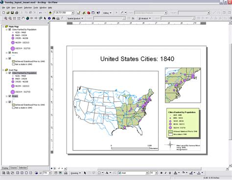 layout grid arcgis arcmap instructions