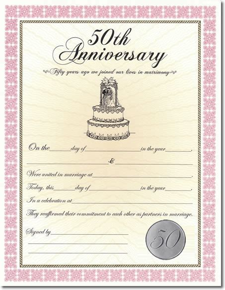 Wedding Anniversary Certificate Template by 7 Best Images Of Anniversary Certificate Wedding