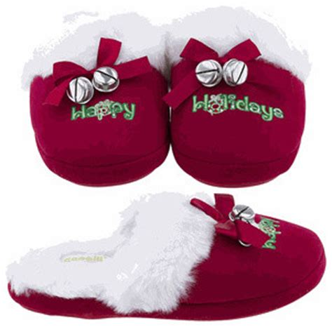 christmas house shoes holiday christmas slippers for women