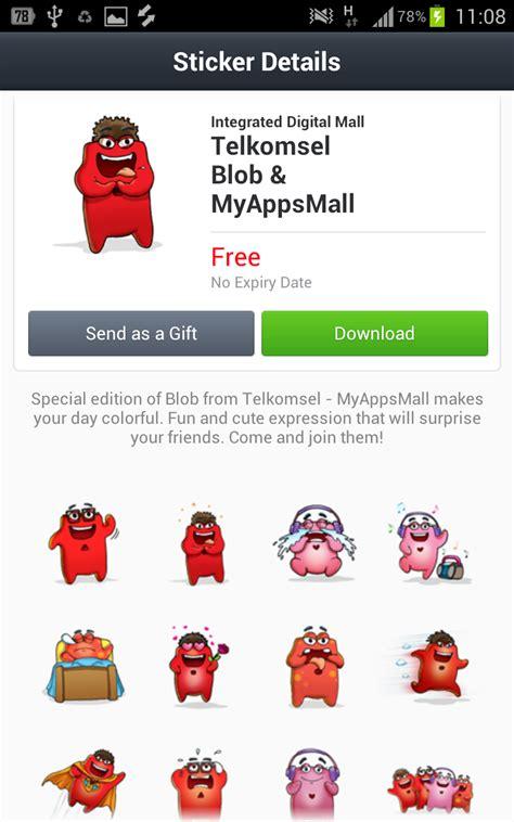 theme line telkomsel line sticker contest indonesia kamos sticker