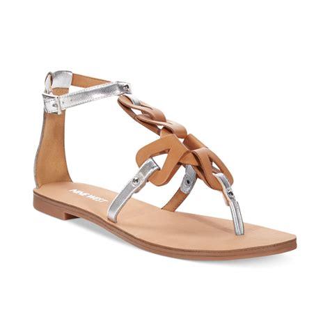 Studio Nine Flat Sandal Shoes nine west saddie flat sandals in silver silver