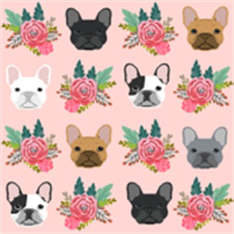 french bulldog fabric wallpaper amp gift wrap spoonflower