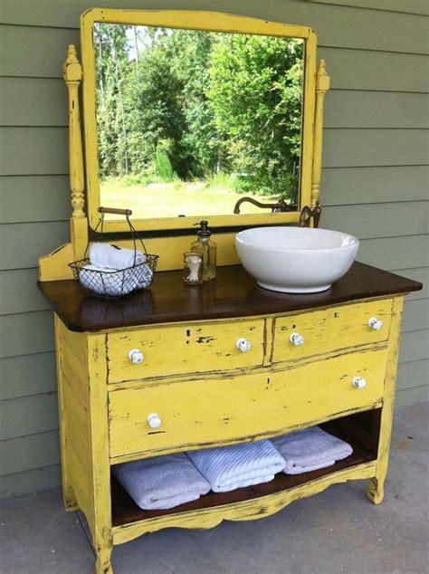 diy dresser to vanity food towel storage