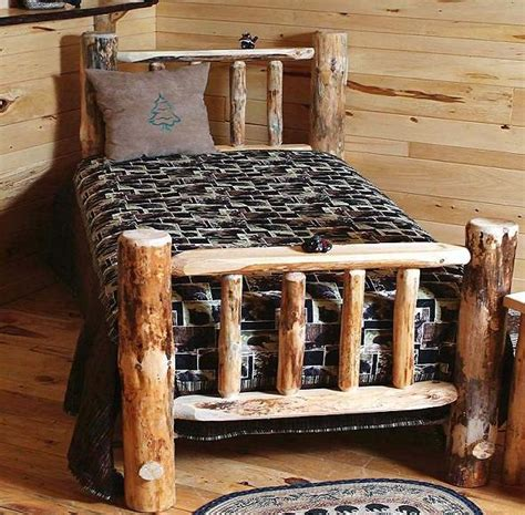 log headboard kits lakeside pine log bed kit log beds kit beds free
