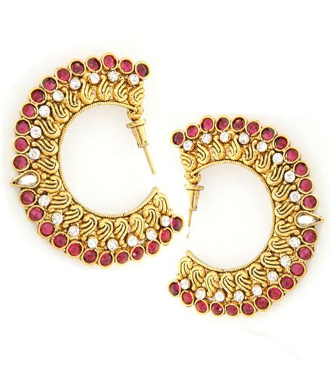 pink earrings celebrity tradisyon pink alloy bollywood celebrity inspired hanging
