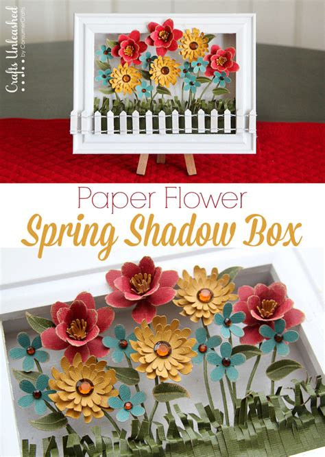 Box Tissue Flower 3d decoration flower shadow box crafts unleashed