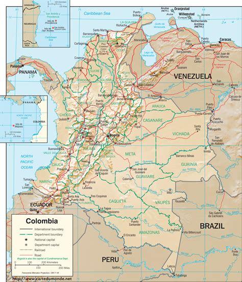 Polska Kolumbia Duży Mapa Kolumbia Na Mapie świata