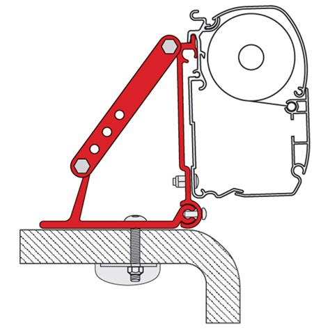 Fiamma Awning Brackets by Fiamma Roof F45 Adapter Bracket Kit Leisure Outlet