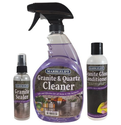 Granite Countertop Seal, Clean and Care Kit by