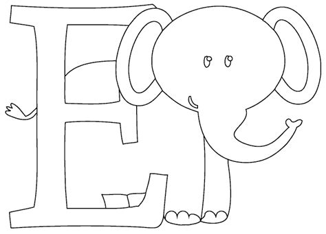 e coloring pages preschool e is for elephant coloring page coloring com