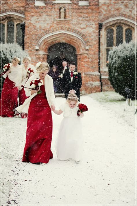 hot christmas winter wedding color palette ideas tulle