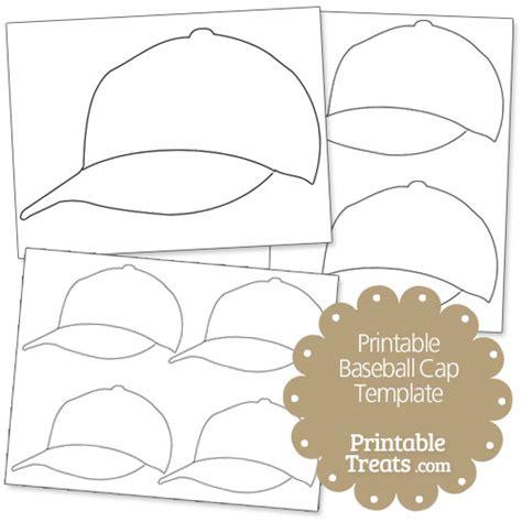 baseball cap template printable baseball cap template printable treats