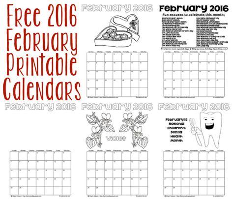 printable calendar 2016 big big febuary 2016 printable calendar calendar template 2016