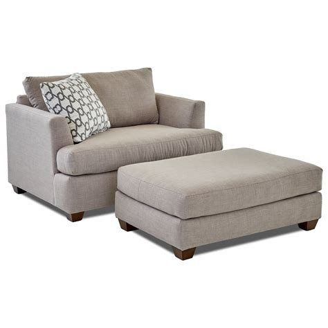 big and ottoman klaussner big chair and ottoman set wayside