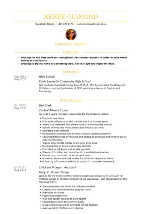 Deli Clerk Resume samples   VisualCV resume samples database