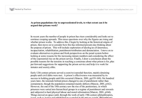 Prison Essay by Prison Populations Essay An Article On Animals Cry For Help
