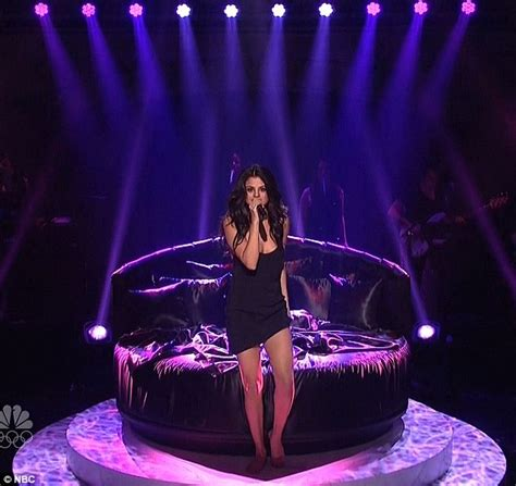 Bed Snl by Selena Gomez Gets Sultry In Black Nightie In Steamy Snl Performance Daily Mail