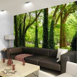 home interior wall hangings green forest nature landscape wall paper wall print decal