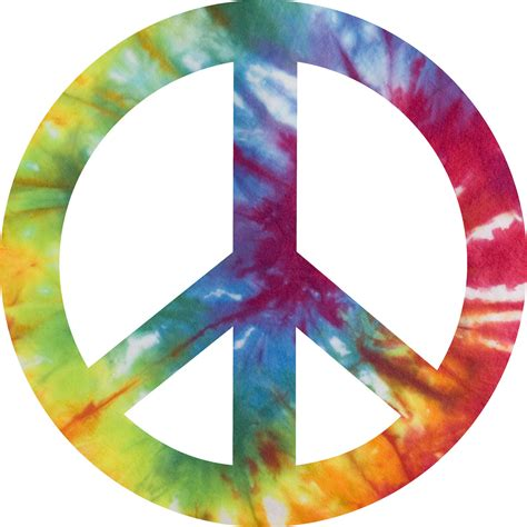 peace sign tie dye peace sign decal sticker 4 inches in diameter