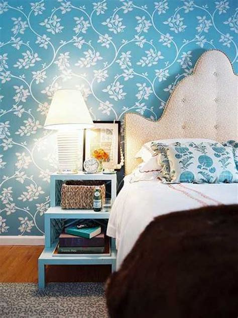 awesome floral background print for bedroom ideas with light blue bedroom colors 22 calming bedroom decorating ideas