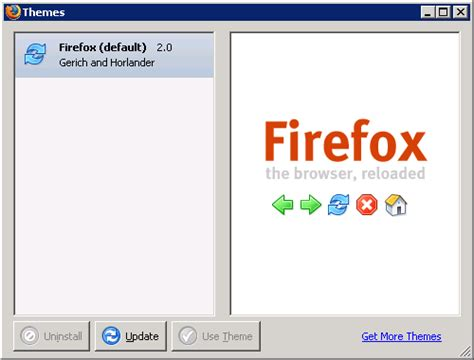 firefox live themes some of the differences between mozilla 1 7 x 1 8a x and
