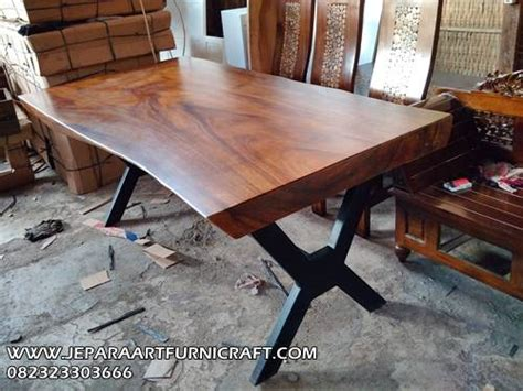 Meja Makan Solid Wood jual meja makan solid kaki besi 6 kursi harga murah