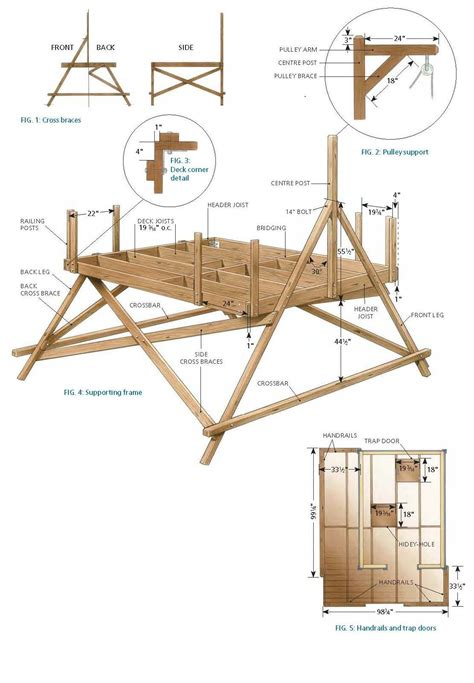 Treehouse Floor Plans by Free Deluxe Tree House Plans