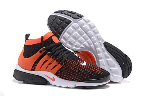 Nike Air Presto Ultra Flyknit Black Bright Crimson nike air presto flyknit ultra shoes black bright