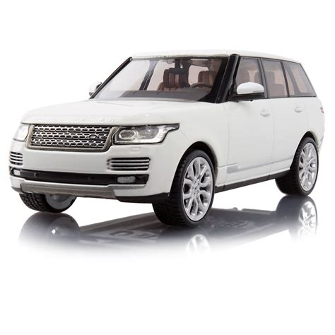 white land rover range rover scale model 1 43 fuji white land rover