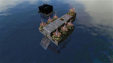 ark boat defense tuto ark pc ps4 xbox 4 radeau bateau indestructible et