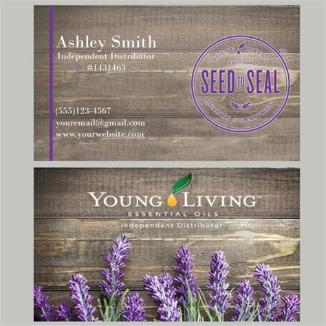 awesome young living business cards business cards templates 167