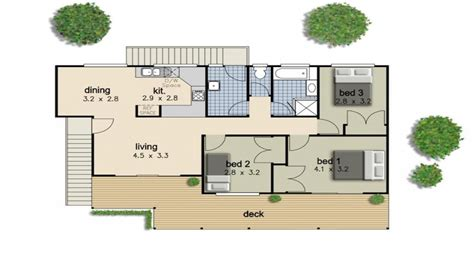 simple  bedroom house floor plans simple  bedroom house