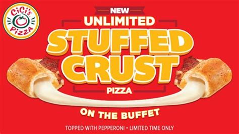 how much is cici pizza buffet stuffed crust pizza joins endless buffet at cici s