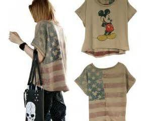 Blouse Mickey Batwing Berkualitas vintage mickey mouse usa flag batwing t shirt on luulla
