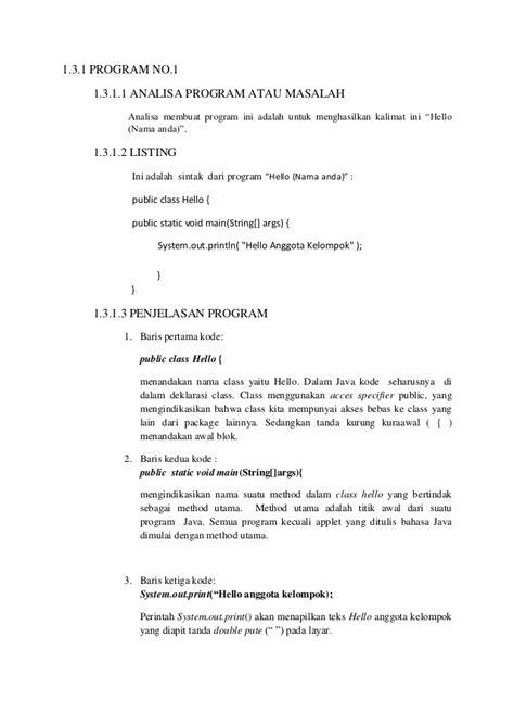 urutan membuat laporan hasil praktikum laporan praktikum algoritma dan pemograman 1