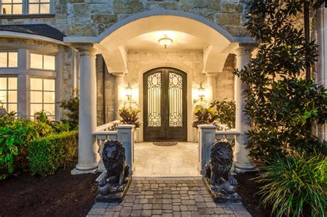 entrance grand mediterranean villa  dallas hgtv