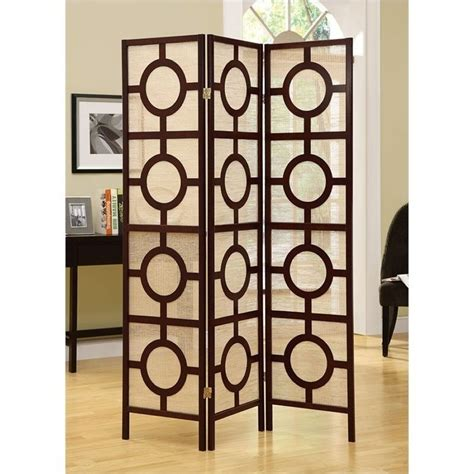 wohnzimmer design 4620 3 panel circle design room divider in cappuccino i 4620