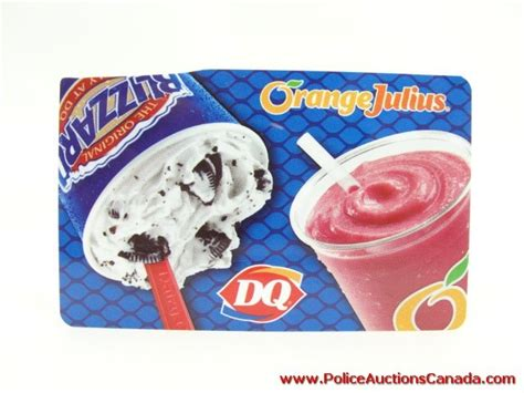 Dairy Queen Gift Card Balance - police auctions canada dairy queen orange julius gift card 20 00 128344c