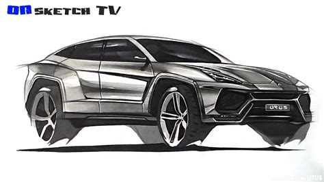 lamborghini logo sketch 온스케치 tv car sketch quot lamborghini urus sketch color