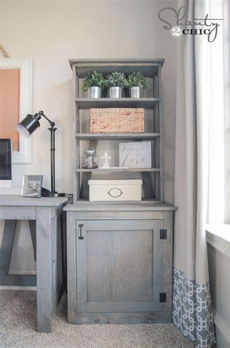 bookcase desk diy diy bookcase shanty 2 chic