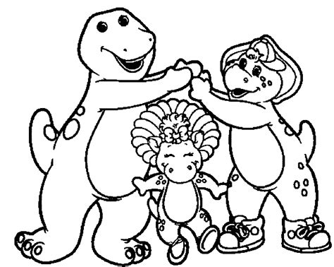 barney and friends coloring pages 15 printable line